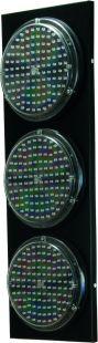 Sygnalizacja świetlna drogowa z minutnikiem, tymczasowa, LED, bezprzewodowa, wahadłowa, lampy 20 cm - komplet