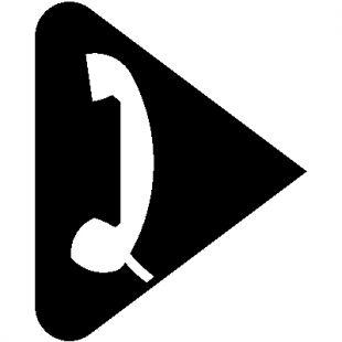 Symbol słuchawki telefonicznej U-1e