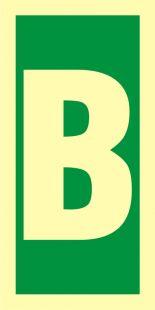Symbol stacji ewakuacyjnych B - znak morski - FE012