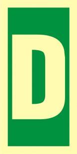 Symbol stacji ewakuacyjnych D - znak morski - FE014