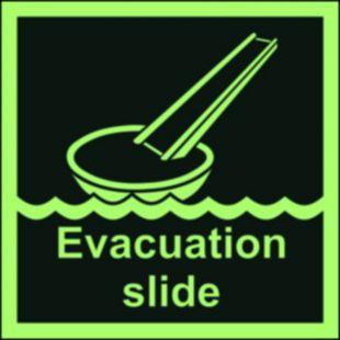 System ewakuacji okrętowej (ślizg) - znak morski - FB007