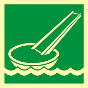 System ewakuacji okrętowej (ślizg) - znak morski - FB040