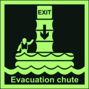 System ewakuacji okrętowej (zsuwnia) - znak morski - FB024