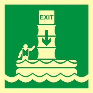 System ewakuacji okrętowej (zsuwnia) - znak morski - FB056