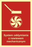 System oddymiania z nawiewem mechanicznym - znak przeciwpożarowy ppoż - BB017 - Oddymianie klatek schodowych