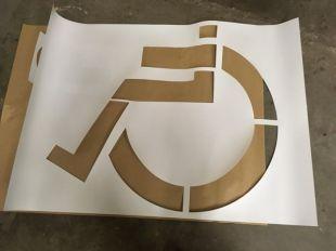 Szablon malarski drogowy P-24 Miejsce dla osoby niepełnosprawnej