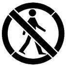 Szablon malarski drogowy Zakaz ruchu pieszych
