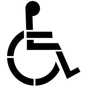 Szablon znaku drogowego P-24 Miejsce dla osoby niepełnosprawnej. Inwalida