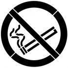 Szablon znaku drogowego - Zakaz palenia, malarski, poziomy