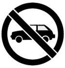 Szablon znaku drogowego - Zakaz parkowania
