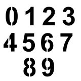 Szablon znaku drogowego - zestaw cyfr 0-9 - Oznakowanie poziome – szablony i farby