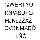 Szablon znaku drogowego - zestaw liter alfabetu od A do Z wielkie litery