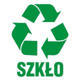 Szkło 1 - znak informacyjny, segregacja śmieci - PA052 - Segregacja odpadów w świetle nowych przepisów