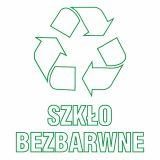 Szkło bezbarwne 1 - znak informacyjny, segregacja śmieci - PA060 - Segregacja odpadów w świetle nowych przepisów