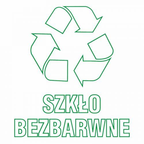 Szkło bezbarwne 1 - znak informacyjny, segregacja śmieci - PA060 - Zasady segregacji odpadów w Gdańsku po 1 kwietnia 2018