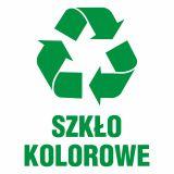 Szkło kolorowe 1 - znak informacyjny, segregacja śmieci - PA061 - Segregacja odpadów w świetle nowych przepisów