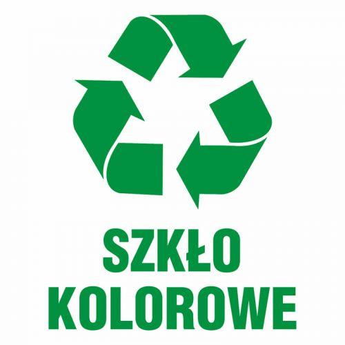 Szkło kolorowe 1 - znak informacyjny, segregacja śmieci - PA061 - Zasady segregacji odpadów w Gdańsku po 1 kwietnia 2018