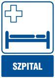 Szpital - znak informacyjny - RF001 - Placówki służby zdrowia – oznaczenia