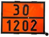 Tablica ADR 30x40cm - numeryczna obrotowa ON/PB 30,1202 / 33,1203 - Tablice barwy pomarańczowej – wymagania