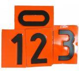 Tablica ADR numeryczna wymienna - cyfra 12,5x8cm - Etykiety CLP – transport materiałów niebezpiecznych