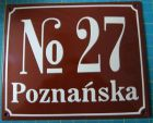 Tablica hipoteczna tabliczka adresowa - numer domu budynku ulicy - blacha emaliowana