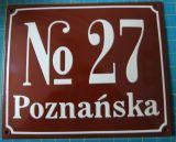 Tablica hipoteczna tabliczka adresowa - numer domu budynku ulicy - blacha emaliowana - Tabliczka z numerem nieruchomości a przepisy: jak prawidłowo oznakować nowy dom?