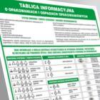 Tablica informacyjna o opakowaniach i odpadach opakowaniowych