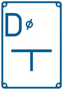 Tablica orientacyjna dla zasuwy na połączeniu - znak bezpieczeństwa, informujący, wodociągi - JB003