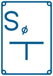 Tablica orientacyjna dla zasuwy odwadniającej (spust) - znak bezpieczeństwa, informujący, wodociągi - JB004