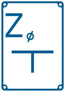 Tablica orientacyjna dla zasuwy - znak bezpieczeństwa, informujący, wodociągi - JB002