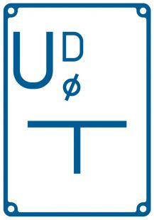 Tablica orientacyjna przyłączenia przewodów od stacji drenażowej - znak bezpieczeństwa, informujący, wodociągi - JB008