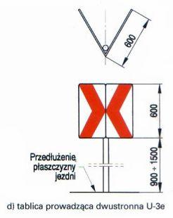 Tablica prowadząca dwustronna U-3e