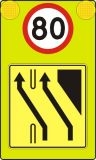 Tablica wcześnie ostrzegająca U-27 - Oznakowanie na czas robót drogowych