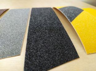 Taśma antypoślizgowa samoprzylepna na podłogę 2,5/5/10 cm x 18m - żółto-czarna