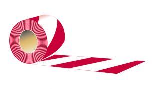 Taśma odgradzająca, dwustronna 7cm x 100m - typ A, czerwono-biała