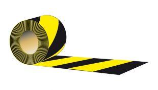Taśma odgradzająca, dwustronna 8,5cm x 100m - typ A, czarno-żółta