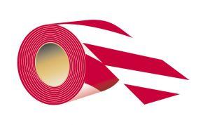 Taśma odgradzająca, jednostronna 8,5cm x 100m - typ F, biało-czerwona