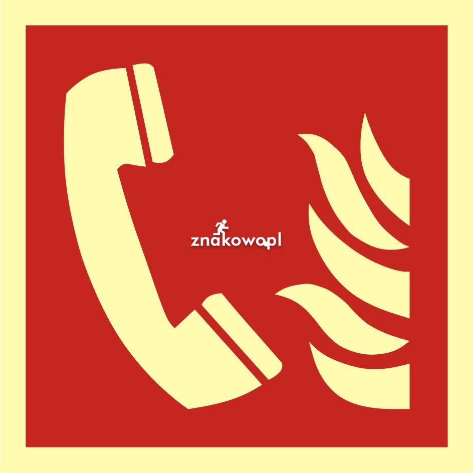 Telefon alarmowania pożarowego - Placówki służby zdrowia – oznaczenia