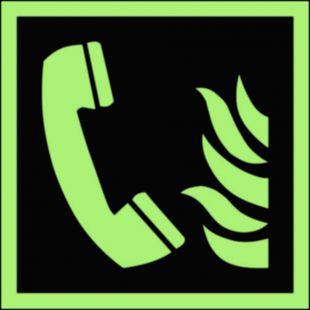 Telefon alarmowania pożarowego - znak przeciwpożarowy ppoż - BAF006