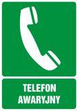 Telefon awaryjny - znak bhp informujący - GI006 - Znaki BHP w miejscu pracy (norma PN-93/N-01256/03)