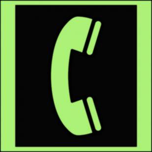Telefon awaryjny - znak morski - FA023