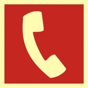 Telefon do użycia w stanie zagrożenia - znak przeciwpożarowy ppoż - BA008