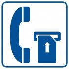 Telefon na kartę magnetyczną - znak informacyjny - RA034