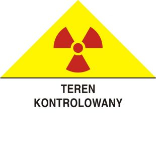 Teren kontrolowany - znak bezpieczeństwa, ostrzegający, promieniowanie - KA007