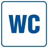 Toaleta 1 - znak informacyjny - RA013 - Biurowiec – jakie oznaczenia są konieczne?