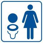 Toaleta damska 2 - znak informacyjny - RA018