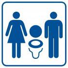 Toaleta damsko-męska 2 - znak informacyjny - RA020