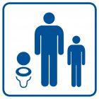 Toaleta dla dzieci - znak informacyjny - RA021