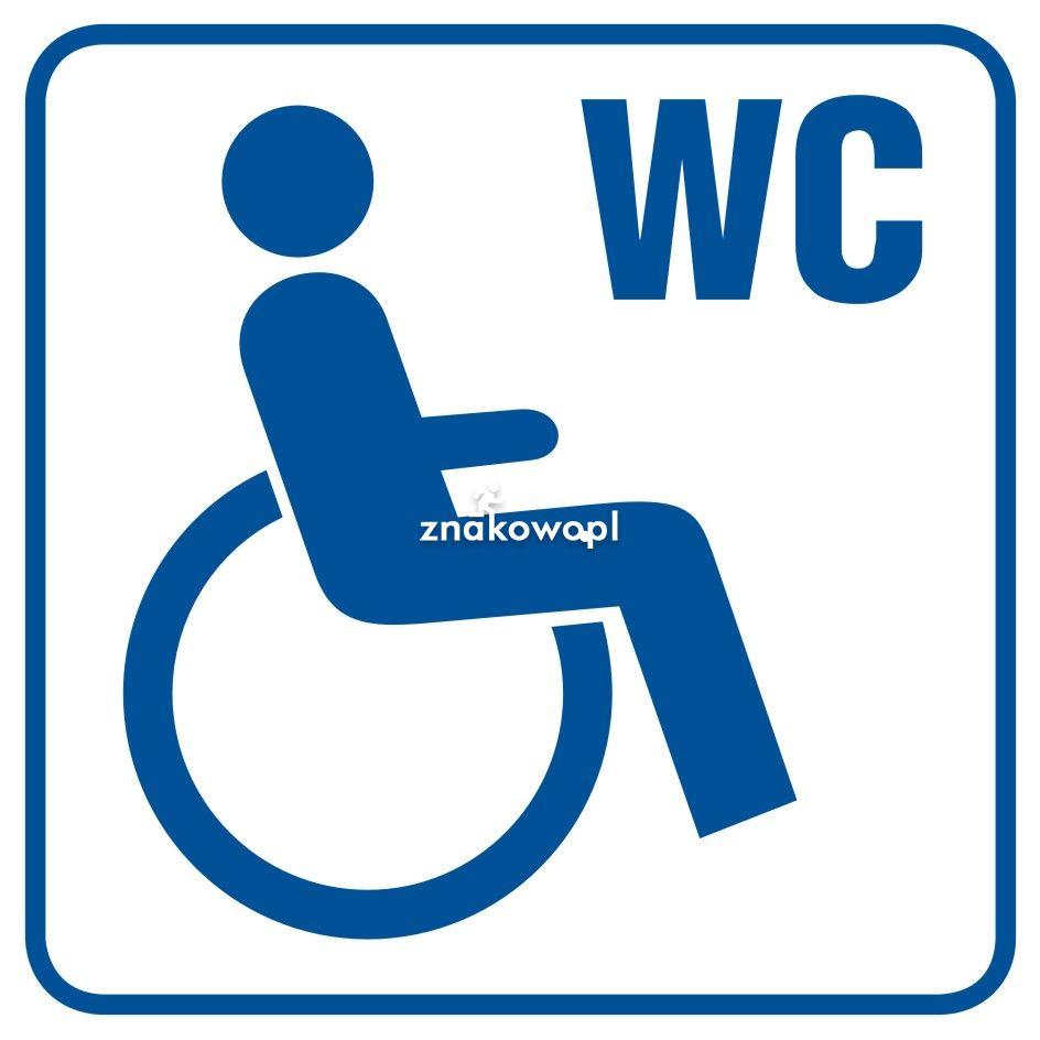 Toaleta dla inwalidów 1 - Obiekty handlowe – znaki bezpieczeństwa i tablice informacyjne