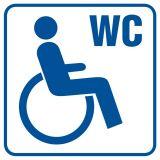 Toaleta dla inwalidów 1 - znak informacyjny - RA022 - Obiekty handlowe – znaki bezpieczeństwa i tablice informacyjne